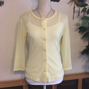 Windsor Vintage 90s sheer yellow button front top